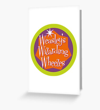 Weasley's Wizarding Wheezes logo Greeting Card