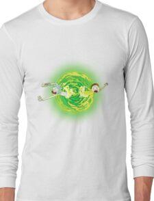 Rick and morty portal Long Sleeve T-Shirt