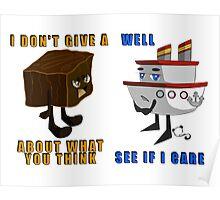 Fudge and Ship Poster
