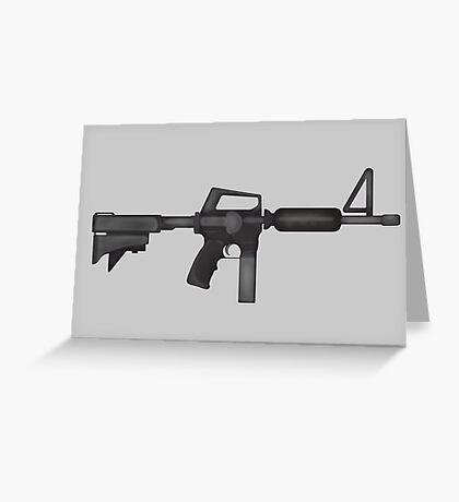 Paint M16 Rifle Greeting Card