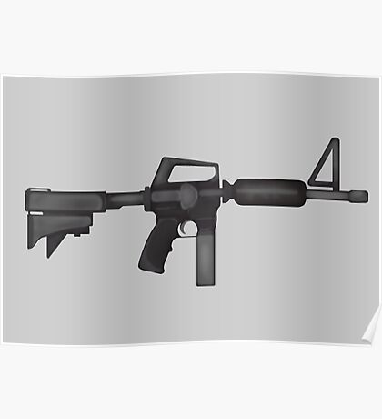 Paint M16 Rifle Poster