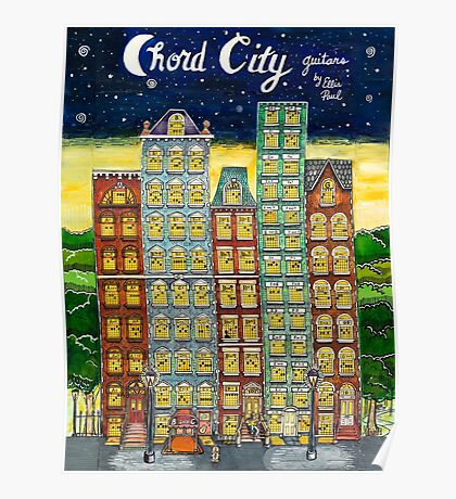 Chord City by Ellis Paul Poster