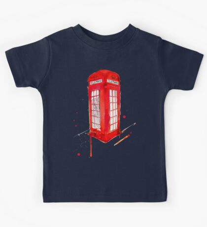 Telephone Booth 578 Kids Tee