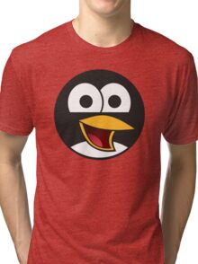 Linux Angry Tux Tri-blend T-Shirt
