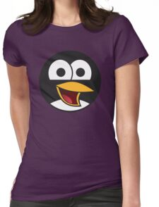 Linux Angry Tux Womens Fitted T-Shirt