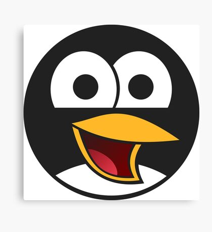 Linux Angry Tux Canvas Print