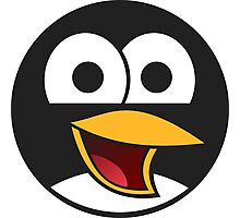 Linux Angry Tux Photographic Print