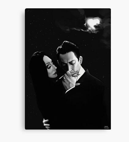 Gomez and Morticia Addams Canvas Print