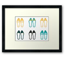 New in shop : Vintage shoes collection Framed Print