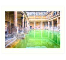 Ancient Roman Baths of Bath, England Art Print
