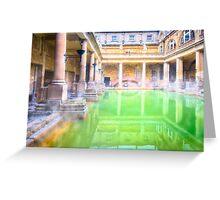 Ancient Roman Baths of Bath, England Greeting Card