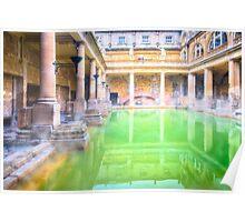 Ancient Roman Baths of Bath, England Poster