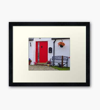 The Pink Watering Can Framed Print