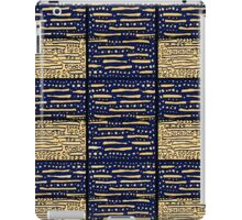 Blue, gold geometric pattern iPad Case/Skin