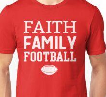 Faith Family Football Unisex T-Shirt