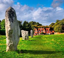 Avebury Village Today - Ancient British Standing Stones by Mark Tisdale