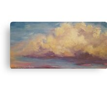 Impressionist Oil painting Clouds and sunset original art Canvas Print