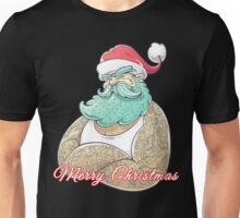 Hard Core Tattooed Santa Claus Christmas Unisex T-Shirt
