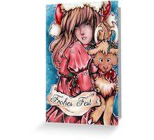 Rudi, the funny Reindeer  Greeting Card