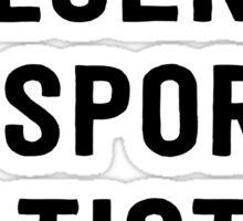 Fluent in sports statistics Sticker