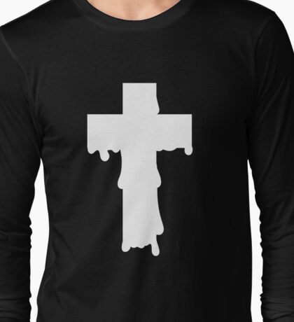 Melty Cross White Long Sleeve T-Shirt
