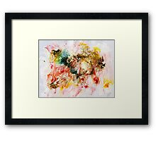 Red, brown and yellow abstract  Framed Print