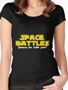 SPACE BATTLES peace be with you Women's Fitted Scoop T-Shirt