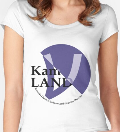 KamLAND Logo Women's Fitted Scoop T-Shirt
