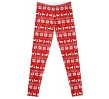 Irish Setter Silhouettes Christmas Sweater Pattern Leggings