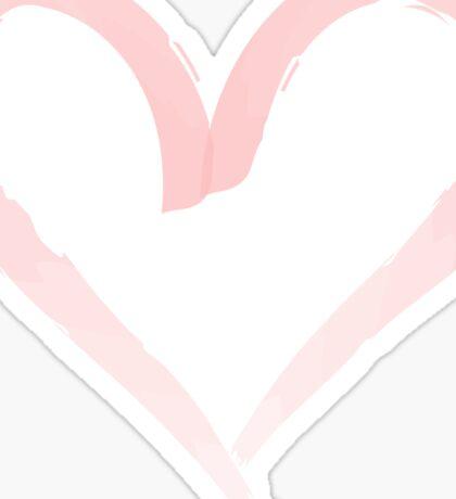 Watercolor heart. Sticker