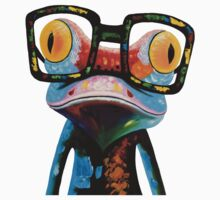 Hipster Frog Nerd Glasses One Piece - Short Sleeve