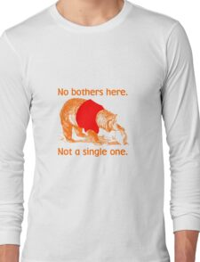 No Bothers Here, Pooh, Winnie, Honey, Bear, No Fox Given, Hunty, Hunny, Lazy, IDGAF, Eeyore, Piglet, Tigger, Christopher Robbins, Parody Long Sleeve T-Shirt