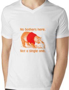 No Bothers Here, Pooh, Winnie, Honey, Bear, No Fox Given, Hunty, Hunny, Lazy, IDGAF, Eeyore, Piglet, Tigger, Christopher Robbins, Parody Mens V-Neck T-Shirt