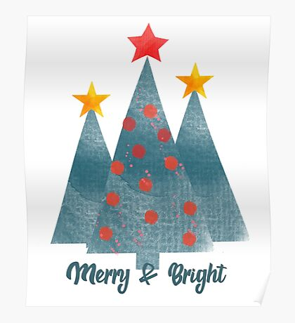 Merry & Bright Christmas Poster