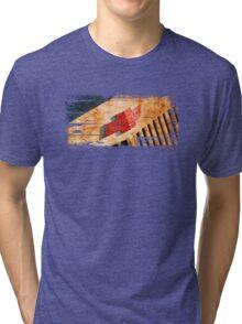 Chevy Rat Rod Badge Tri-blend T-Shirt