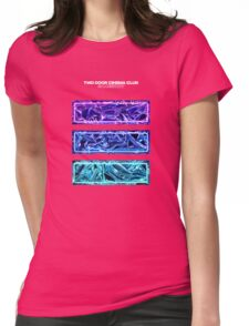 Gameshow White Text Womens Fitted T-Shirt
