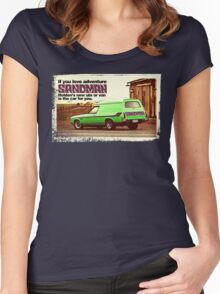 Holden Sandman Panel Van - Nostalgic © Women's Fitted Scoop T-Shirt