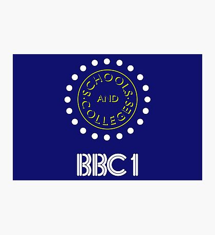 BBC1 Schools and Colleges - 1980s Photographic Print