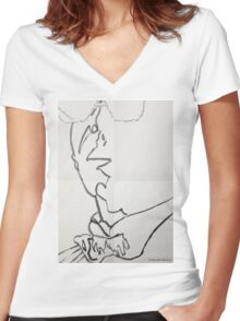 Blade runner illustration Women's Fitted V-Neck T-Shirt