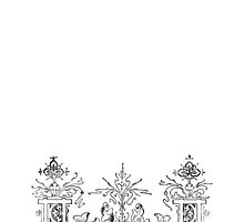 iPhone Case very old print ornament 1877 by Krzyzanowski Art