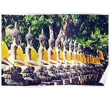 Wat Yai Chai Mongkol in Thailand Poster