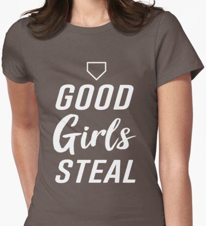 Good girls steal (Softball) Womens Fitted T-Shirt