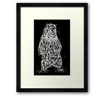 Bearing the Weight of Being a Bear White Framed Print