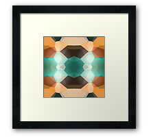 Navaho Dimensions - abstract pattern Framed Print