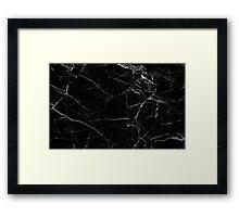 Black & White Marble Design! Framed Print