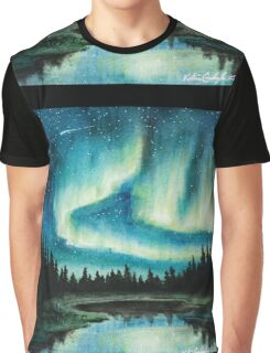 Skyscape - Northern Lights Graphic T-Shirt