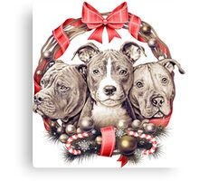 It's a Pit Bull Christmas Canvas Print