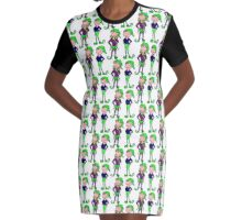Jingle Jangle Christmas Elves Graphic T-Shirt Dress