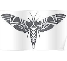 Moth grey Poster