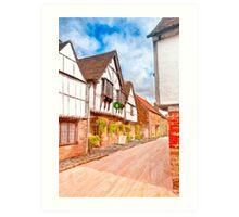 Classic Old English Village - Tudor Britain Art Print